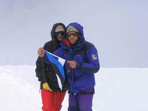 Kaido ja Vilja on Mont Blanci tipus