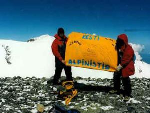 Üllar Rosenfeldt ja Tarmo Männard Elbruse idatipus. 5621m